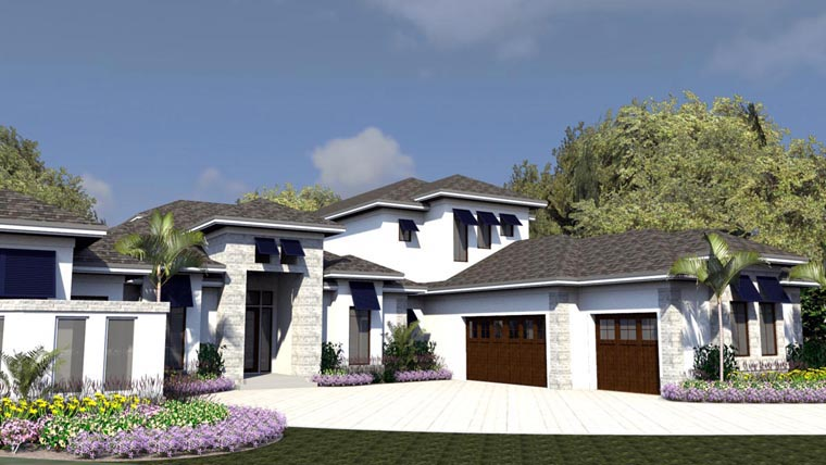 Florida House Plan 71521 Elevation