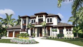 Florida House Plan 71522 Elevation