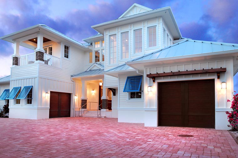 Florida Mediterranean House Plan 71524