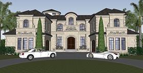 Florida , Mediterranean House Plan 71526 with 4 Beds, 7 Baths, 4 Car Garage Elevation