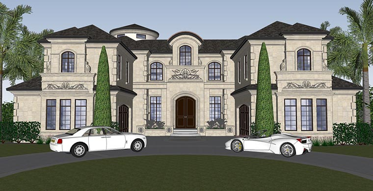 Florida, Mediterranean House Plan 71526 with 4 Beds, 7 Baths, 4 Car Garage