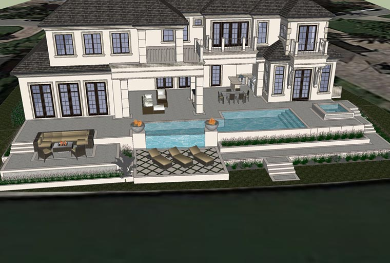 Florida, Mediterranean House Plan 71526 with 4 Beds, 7 Baths, 4 Car Garage Picture 2