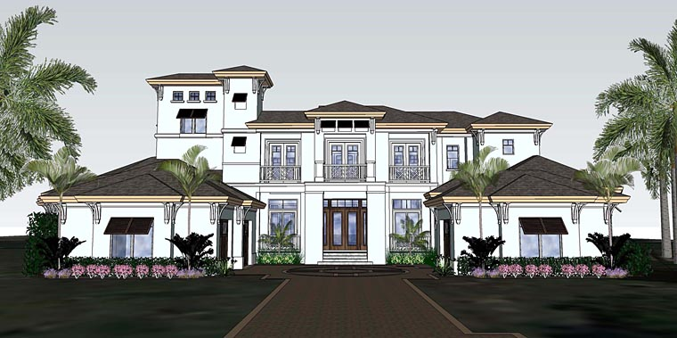 Florida Mediterranean House Plan 71529 Elevation