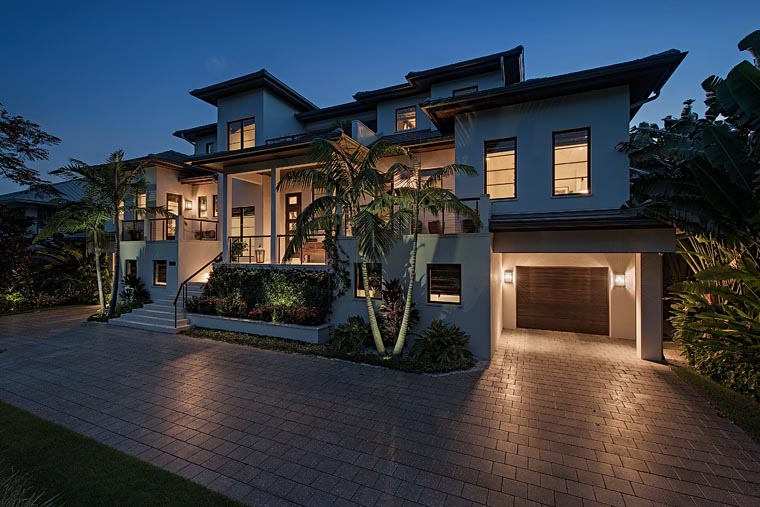 Florida, Mediterranean House Plan 71530 with 4 Beds, 8 Baths, 6 Car Garage Picture 2