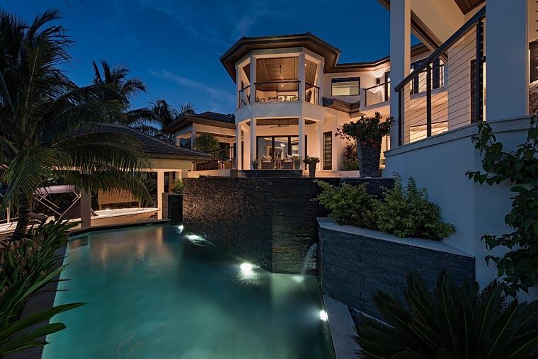 Florida, Mediterranean House Plan 71530 with 4 Beds, 8 Baths, 6 Car Garage Picture 4