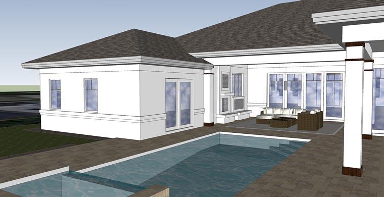 Florida Mediterranean House Plan 71532 Rear Elevation