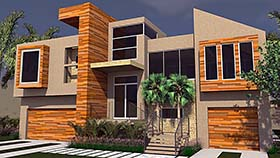House Plan 71533 | Contemporary Modern Style Plan with 2989 Sq Ft, 3 Bedrooms, 4 Bathrooms, 3 Car Garage Elevation