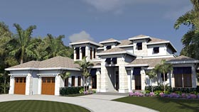 Mediterranean , Florida House Plan 71534 with 4 Beds, 5 Baths, 3 Car Garage Elevation