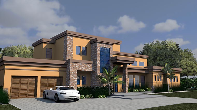 Contemporary Modern House Plan 71535