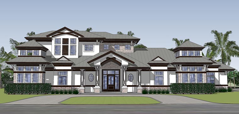 Contemporary House Plan 71536 Elevation