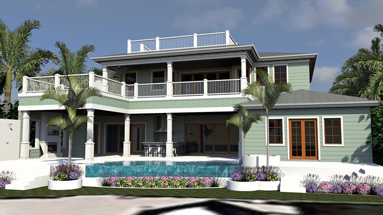 Florida Mediterranean House Plan 71538 Rear Elevation