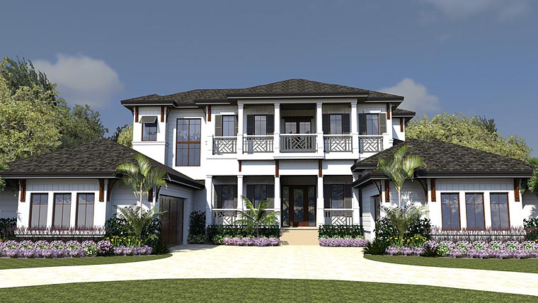 Coastal Florida Mediterranean House Plan 71542 Elevation