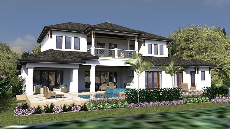 Coastal Florida Mediterranean House Plan 71542 Rear Elevation