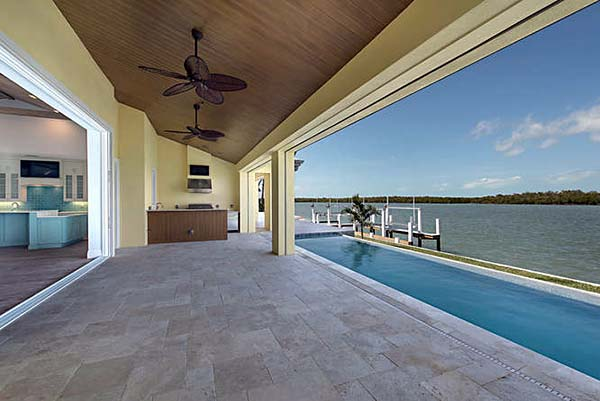 Coastal, Contemporary, Florida House Plan 71544 with 3 Beds, 5 Baths, 2 Car Garage Rear Elevation