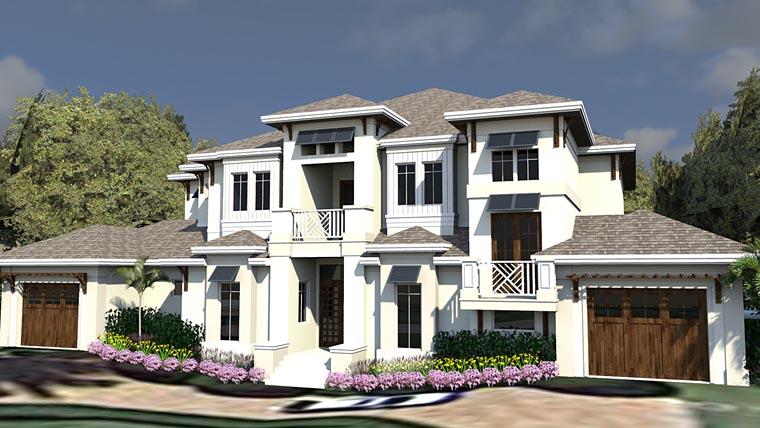 Coastal Contemporary Florida House Plan 71549 Elevation