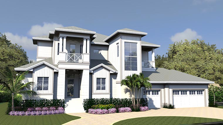 Contemporary House Plan 71553 Elevation
