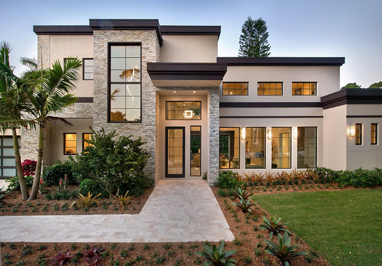 Contemporary, Modern, House Plan 71554 with 6 Beds, 7 Baths, 3 Car Garage