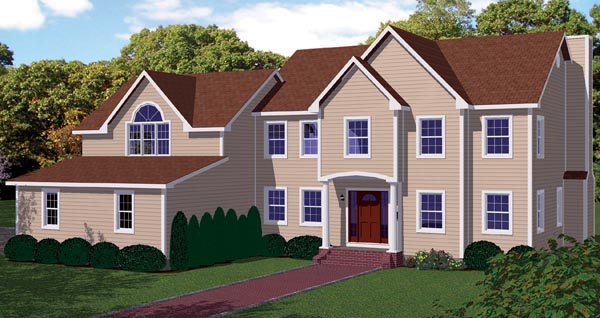 Cottage, Farmhouse House Plan 71900 with 4 Beds, 3 Baths, 3 Car Garage Elevation
