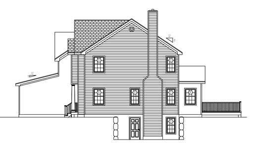 Cottage, Farmhouse House Plan 71900 with 4 Beds, 3 Baths, 3 Car Garage Picture 2