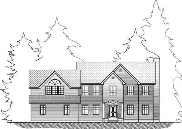 Cottage, Farmhouse House Plan 71900 with 4 Beds, 3 Baths, 3 Car Garage Picture 3