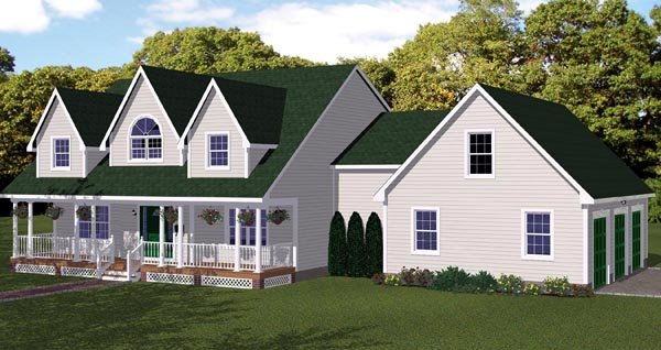 House Plan 71902 Elevation