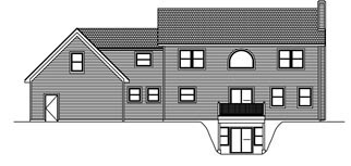 House Plan 71902 Rear Elevation