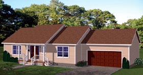 Plan Number 71905 - 1232 Square Feet