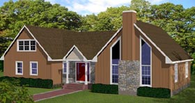 House Plan 71907 | Style Plan with 2767 Sq Ft, 4 Bedrooms, 3 Bathrooms Elevation