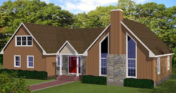 House Plan 71907 Elevation