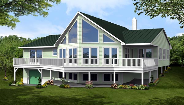 Cottage, Country House Plan 71910 with 3 Beds, 2 Baths Front Elevation