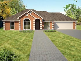 Ranch , Southwest House Plan 71913 with 3 Beds, 2 Baths, 2 Car Garage Elevation