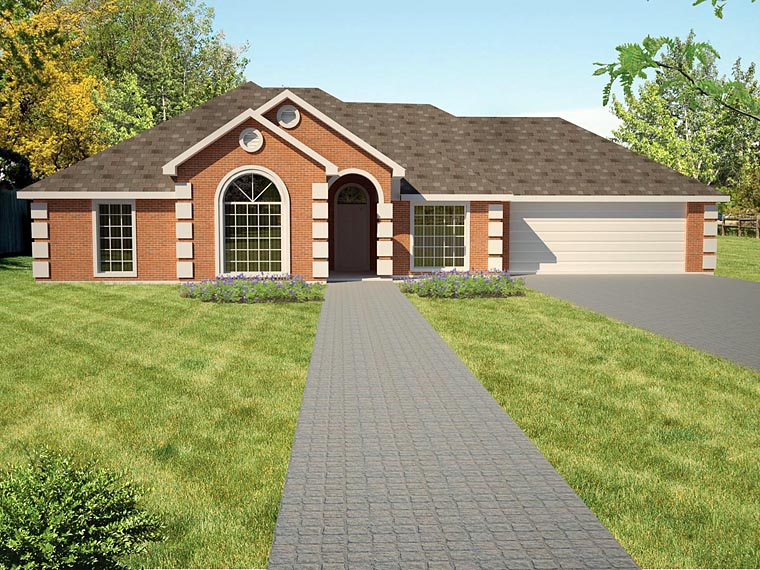 Ranch Southwest House Plan 71913 Elevation