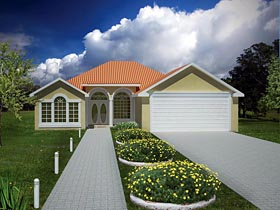 Ranch , Southwest House Plan 71914 with 3 Beds, 2 Baths, 2 Car Garage Elevation
