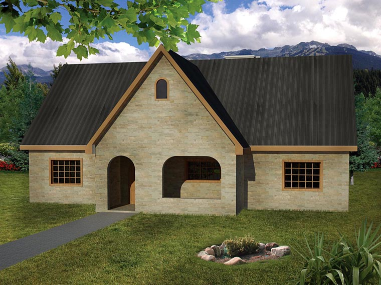 Cottage Country European Ranch House Plan 71915 Elevation