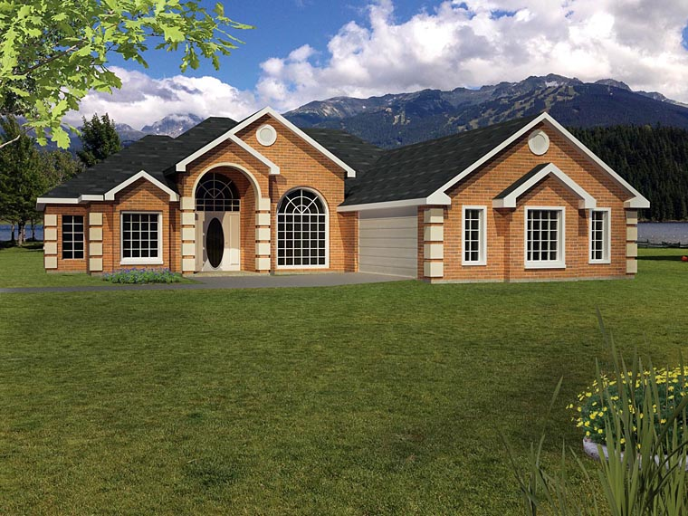 Ranch Southwest House Plan 71917 Elevation