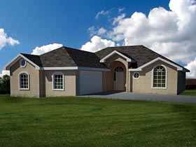 Ranch , Southwest House Plan 71919 with 3 Beds, 2 Baths, 2 Car Garage Elevation