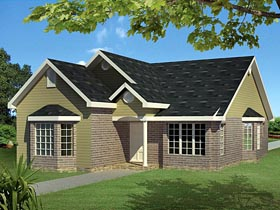 Ranch Traditional House Plan 71922 Elevation