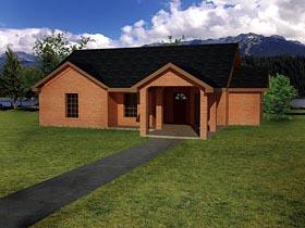 Ranch Southwest House Plan 71929 Elevation