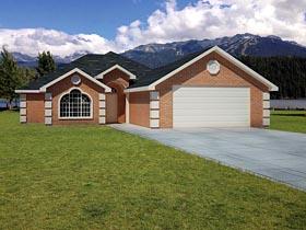 Ranch Southwest House Plan 71931 Elevation