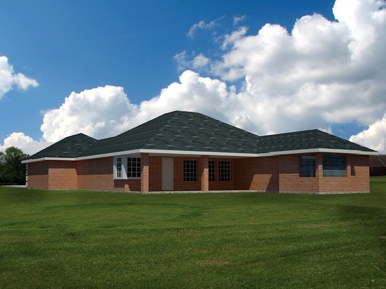 Ranch Southwest House Plan 71931 Rear Elevation