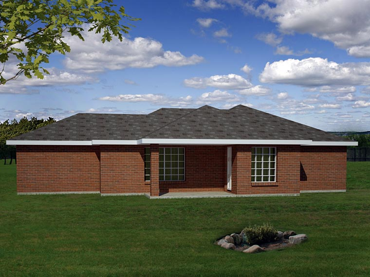 Ranch Southwest Traditional House Plan 71936 Rear Elevation