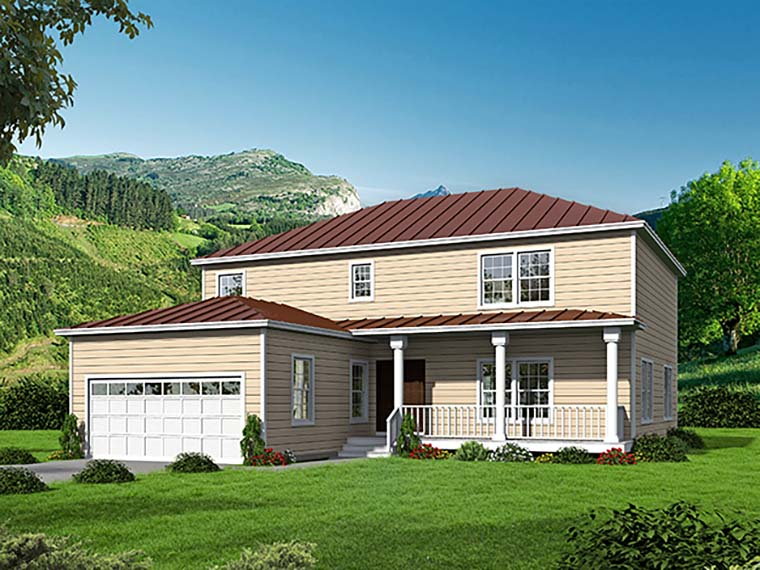 Country, Farmhouse, Traditional House Plan 71938 with 4 Beds, 4 Baths, 2 Car Garage Elevation