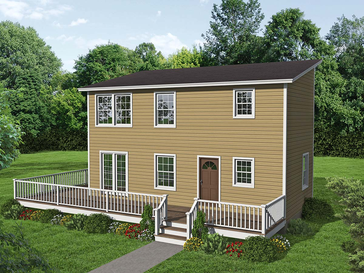 Colonial, Saltbox House Plan 71946 with 2 Beds, 2 Baths Elevation