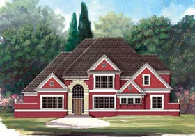 European House Plan 72001 Elevation