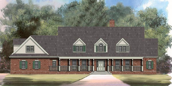 Country Greek Revival House Plan 72003 Elevation