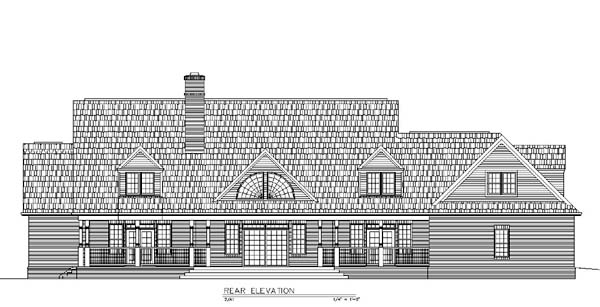 Country Greek Revival House Plan 72003 Rear Elevation