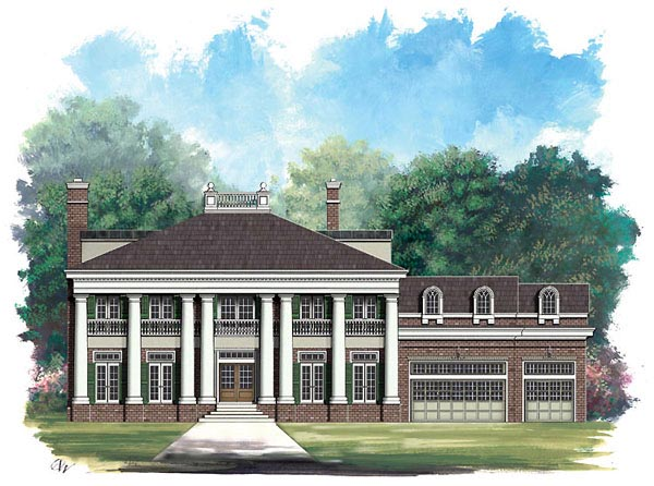 Colonial Greek Revival House Plan 72004 Elevation
