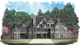 European Greek Revival Victorian House Plan 72005 Elevation