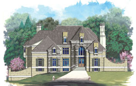 European, Greek Revival House Plan 72010 with 5 Beds, 6 Baths, 3 Car Garage Front Elevation