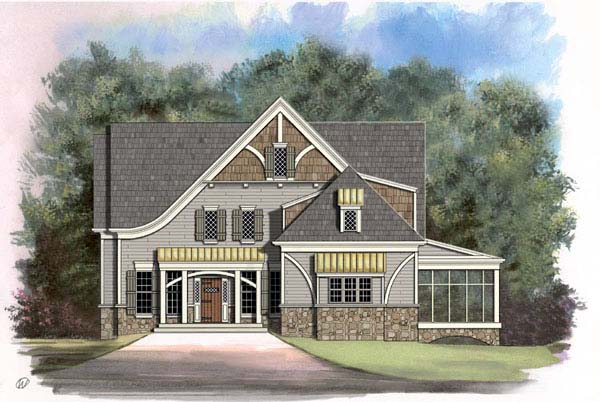 Bungalow, Tudor, Victorian House Plan 72011 with 4 Beds, 4 Baths, 2 Car Garage Elevation
